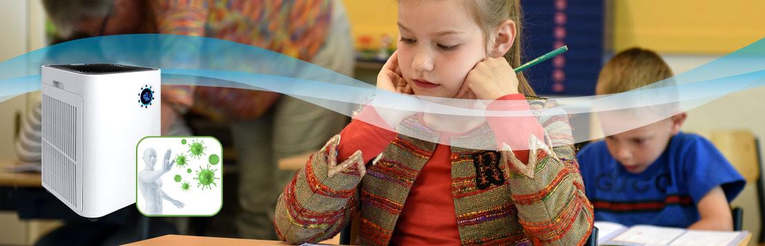 Luftfilter Luftreiniger gegen Keime Bakterien Viren Tröpfcheninfektion in KiTas und Schulen