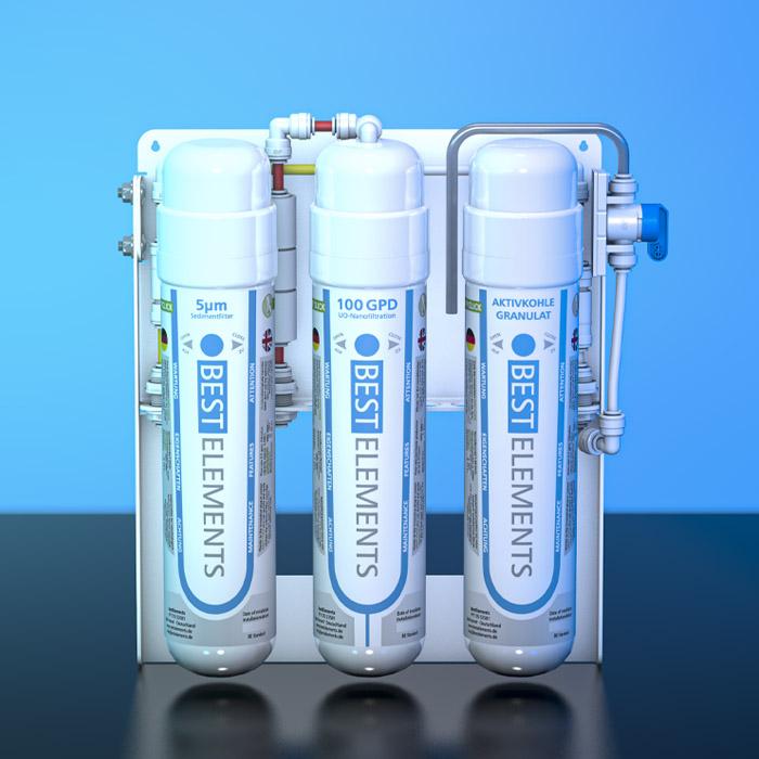 Mobile Wasserfilteranlage BE WA1 für Reise und Urlaub